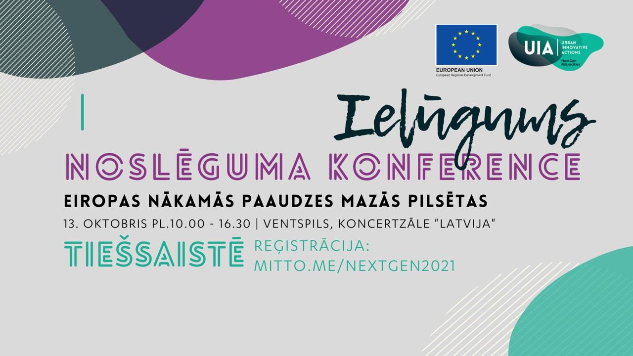 Projekta noslēguma konference 13.10.2021